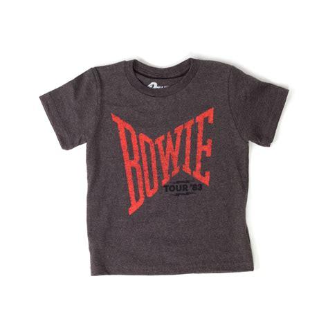 Bowie Shirt In Grey david bowie tour 83 grey t shirt shop the david
