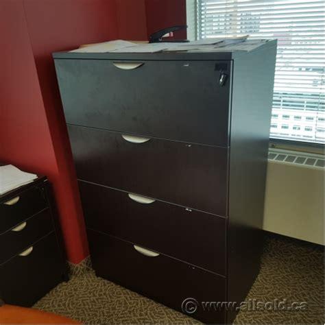 espresso lateral file cabinet espresso 4 drawer lateral file cabinet locking allsold