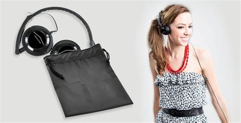 Portable Headphones Pouch Meelectronics 2nd Generation Ht21 meelectronics portable on ear headphones 2nd generation