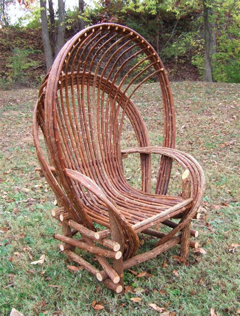 Vintage British Home Decor by Lewis Drake And Associates Willow Tree Hooded Chair