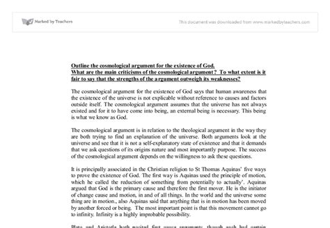 Aquinas Essay by College Essays College Application Essays Cosmological Argument Essay