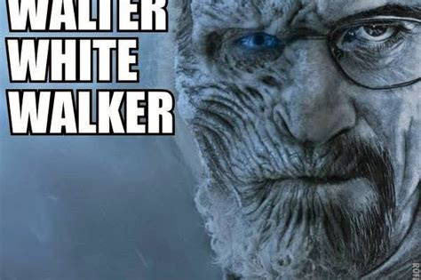 White Walker Meme - gameofthrones walter white walker meme game of thrones