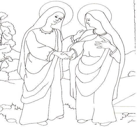 imagen de la virgen maria visitando a su prima isabel compartiendo por amor dibujos mar 237 a visita a su prima isabel