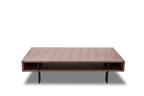 Modern Walnut Coffee Table Modrest Stilt Modern Walnut Coffee Table Coffee Tables Living Room