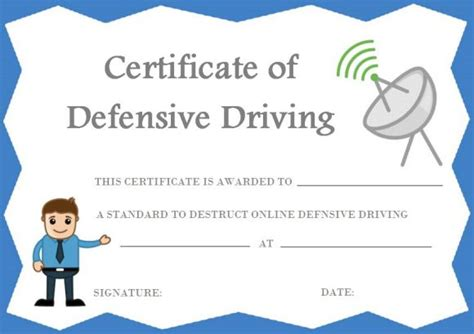 safe driving certificate template safe driving certificate template 20 printable