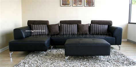 sofa with matching ottoman black leather sectional sofa with matching ottoman