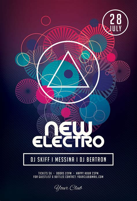 design poster new electronic music festival poster google search pinteres