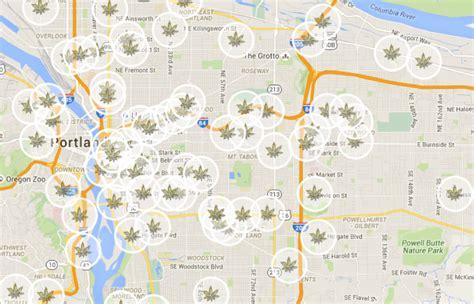 map of oregon dispensaries portland dispensary map willamette week