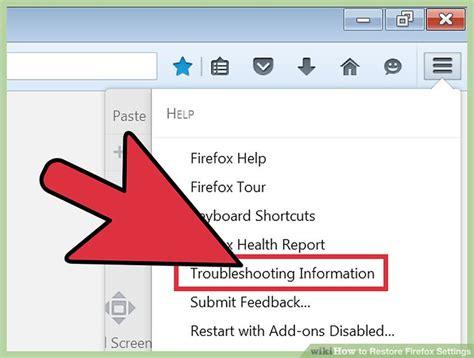 reset all firefox printer settings 3 ways to restore firefox settings wikihow