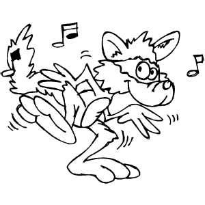 coloring pages dancing animals raccoon dancing coloring page