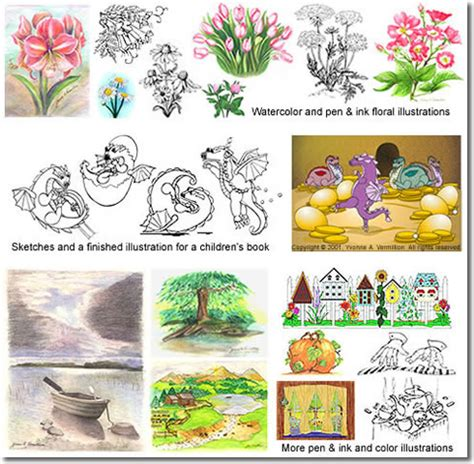 types of picture books illustration custom graphics for all types of books and