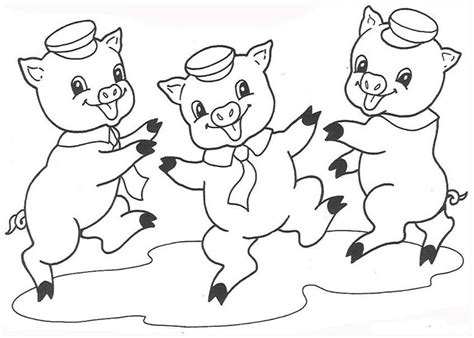 Three Pig Coloring Pages pig coloring pages coloring pages to print