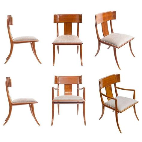 Klismos Dining Chair 1948 Klismos Chairs By T H Robsjohn Gibbings At 1stdibs