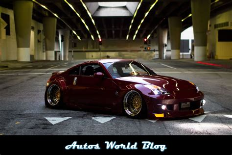 nissan fairlady 350z modified hellaflush nissan 350z wide body kit modified autos