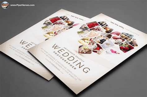 wedding photographer flyer template on behance