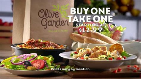 olive garden tv spot buy one take one for later ispot tv
