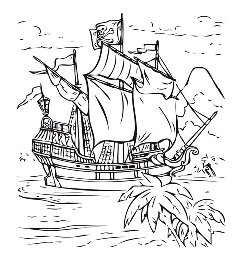 dibujos barcos de piratas pintar barcos piratas
