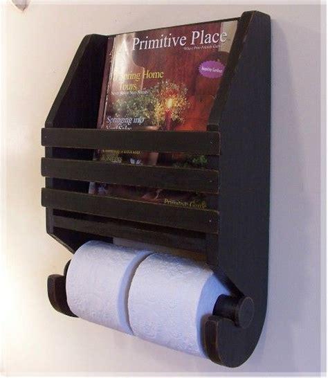 primitive magazine rack toilet paper holder farmhouse