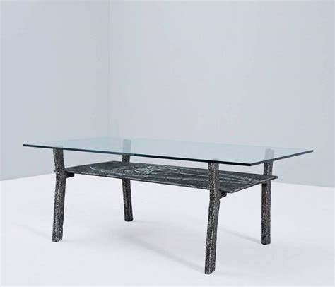 Cast Iron And Glass Coffee Table Brutalist Coffee Table In Cast Iron And Glass Belgium 1970s For Sale At 1stdibs