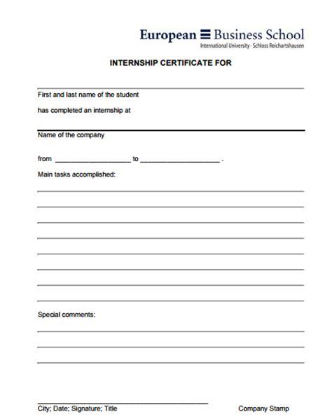 company internship templates 6 internship certificate templates certificate templates