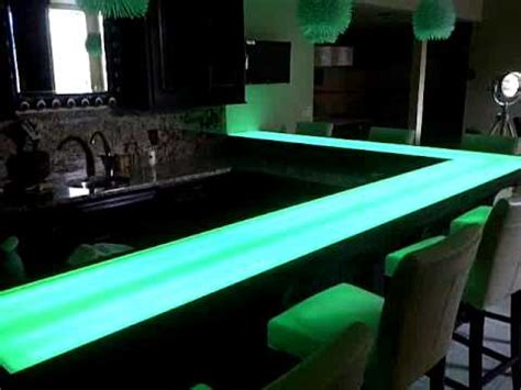lighted bar top lighted basement bar youtube