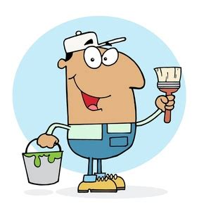 house painter clipart funny house painter clipart