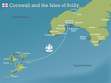isles map swimming in cornwall isles of scilly swimtrek