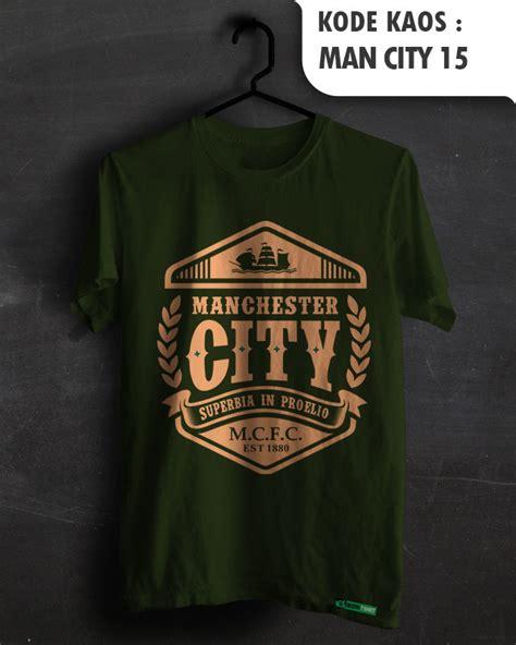 Kaos Manchester City Logo jual manchester city city fans baju sepakbola kaos