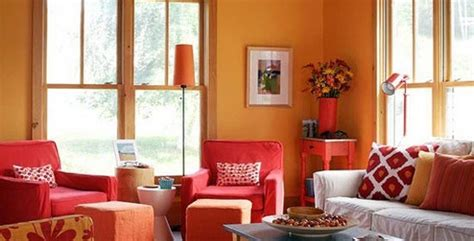red and orange living room orange living room white and red chairs orange house
