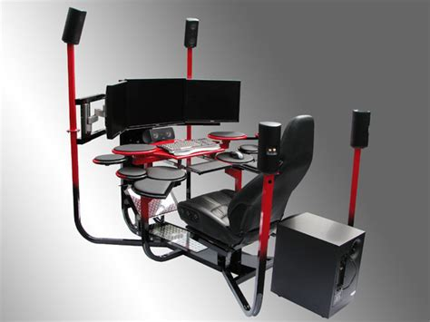 Gaming Station Desk V1 Flagship Chair The Awesomer