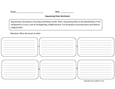 sequencing events worksheets 5th grade writing worksheets sequencing worksheets