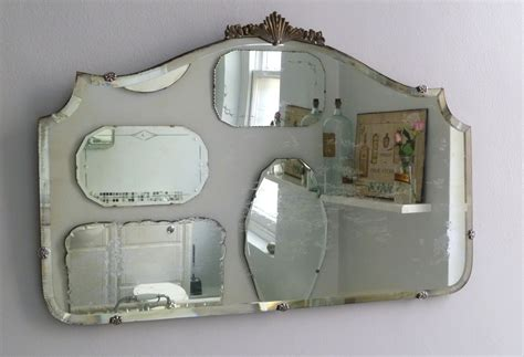 how to hang a frameless bathroom mirror antiques decor homes on pinterest rub n buff damask