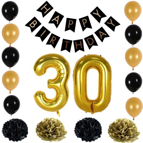 Garland Home Decor Happy Birthday Paper Black Banner Garland Paper Flower