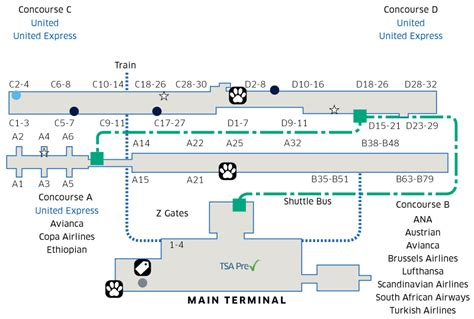Washington Dulles Int'l (IAD) Airport Map   United Airlines