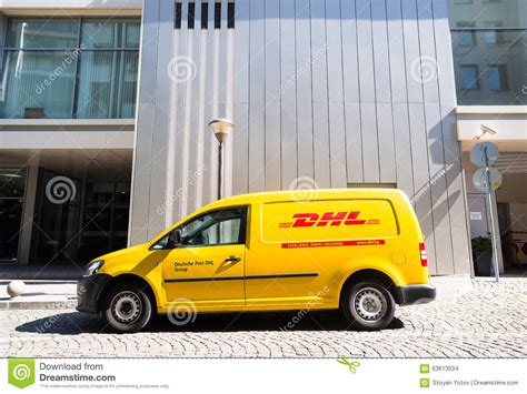 Dhl Auto by Dhl Delivery Car During Service Editorial Stock Image