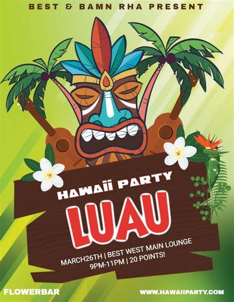 Hawaiian Luau Flyer