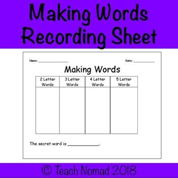card sort template word words sorting template worksheet by teach nomad tpt