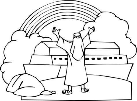 christian rainbow coloring pages noah rainbow coloring pages