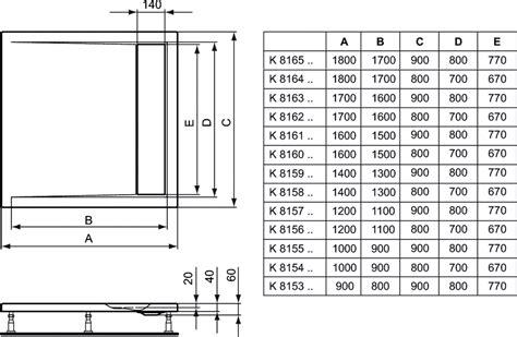 piatti doccia dimensioni standard dettagli prodotto k8153 piatto doccia in acrilico