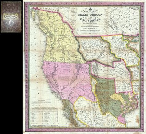 map from texas to california a new map of texas oregon and california with the regions adjoining geographicus antique maps
