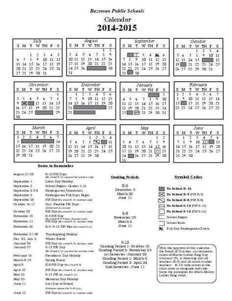 Bozeman Schools Calendar Bozeman Schools To Start After Labor Day Thanks To New