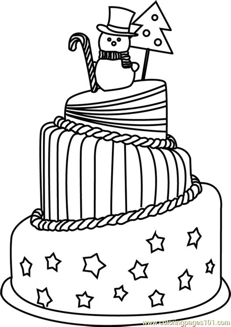 christmas cake coloring pages christmas cake coloring page free christmas celebrations