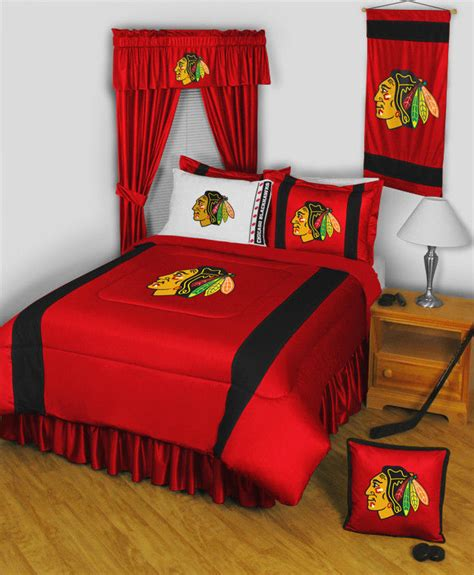 chicago blackhawks 9 pc full comforter set includes a