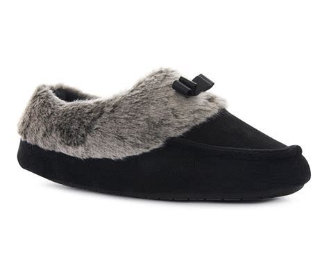 black lined moccasin slipper