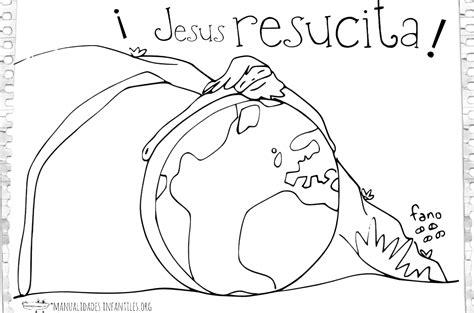 imagenes de jesus para colorear infantiles dibujo de jes 250 s resucitando manualidades infantiles