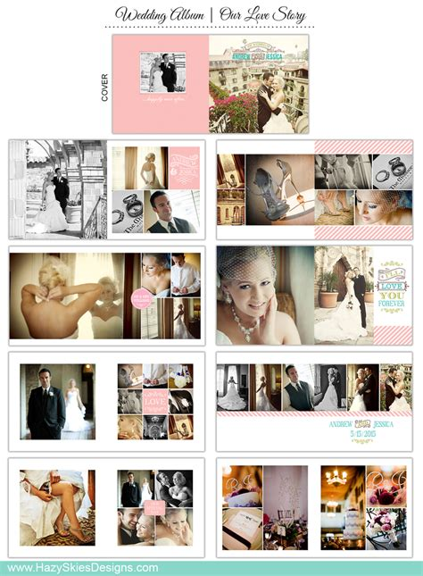wedding book template for photographers our love story