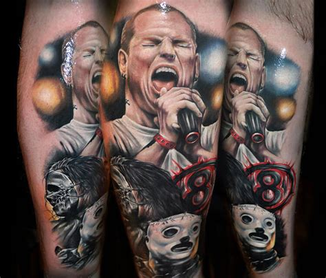 corey taylor tattoos slipknot corey by benjamin laukis no 259