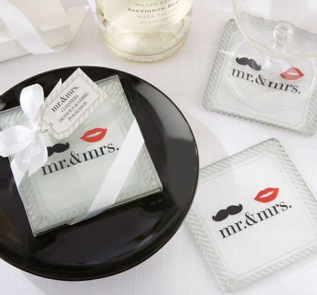 Wedding Favors City by Mr Mrs Glass Coasters