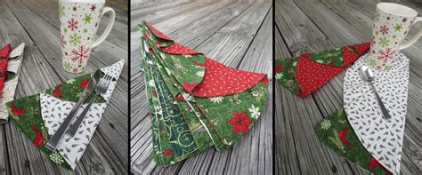 free pattern for christmas napkins christmas tree napkins keepsake quilting