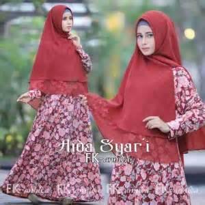 gamis syari aida bunga  baju muslim cantik pesta
